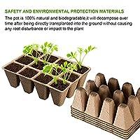 12グリッドピートポットシードスターターピートポット生分解性発芽苗トレイ屋内および屋外植物用