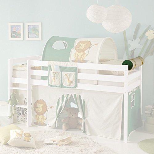 Jugendm�bel24.de Nackenrolle Dschungel Safari 100% Baumwolle Bettrolle Rolle Sicherheitsrolle f�r Hochbett Spielbett Etagenbett Kinderbett Kinderzimmer