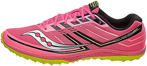 Saucony Women's Kilkenny XC7 Spike Running Shoe, Vizipink   Citron, 6