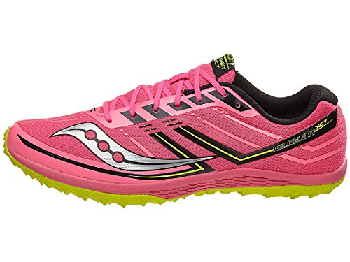 Saucony Women's Kilkenny XC7 Spike Running Shoe, Vizipink | Citron, 7
