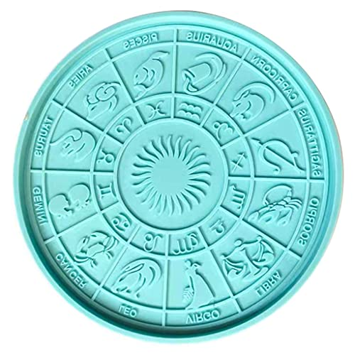 Wenyounge 12 Constellation Divination Tray Harzform Tisch Astrologie Board Silikonform