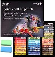 [Mungyo Gallery] 非毒性 ソフトオイルパステル 48色詰め合わせ ゴム製パステル消しゴム付き アーティストやプロ用