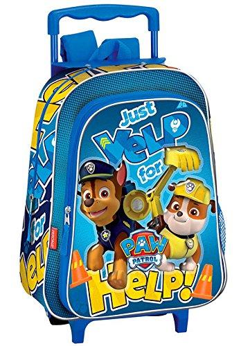 Montichelvo Paw Patrol Carro Mochila Infantil, 36 cm, Azul