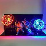 Dragon Ball Z Vegeta Son Goku Super Saiyajan Led Lampe Glühbirne Anime Dragon Ball Z Vegeta Goku...