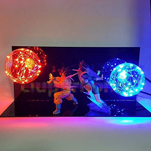 Dragon Ball Z Vegeta Son Goku Super Saiyajan Led Lampe Glühbirne Anime Dragon Ball Z Vegeta Goku Dbz Led Lampe Nachtlicht