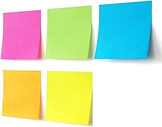 Voarge 6 bloków karteczek samoprzylepnych 76 x 76 mm, na notatki i listę zadań, markery na notatki, małe znaczniki, materi...