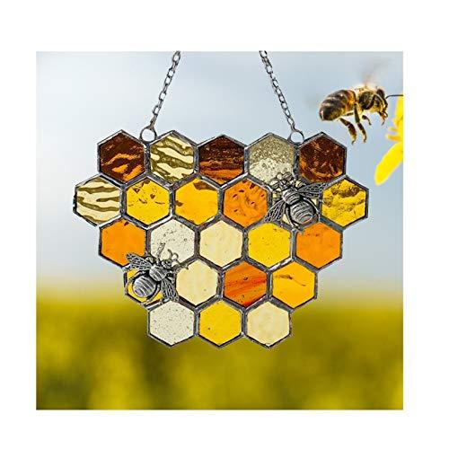 Yue668 - Colgante colgante con diseño de reina de las abejas, protege...