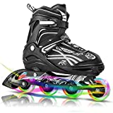 Cunmucu Adjustable Inline Skates for Kids and Adults with All...