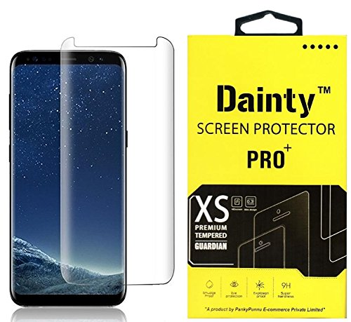 Dainty Cover Friendly Tempered Glass Screen Guard Gorilla Protector for Samsung Galaxy S8 with Easy Installation Kit (Edge to Edge Full Screen Coverage) (Transparent)