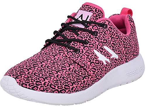 L.A. Gear Unisex Schuhe Sunrise Leoparden Sneaker Turnschuhe Pink Sneaker 37