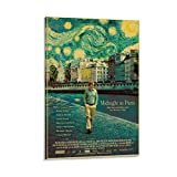 JHDSA Vintage Classic Movie Midnight in Paris Retro Poster