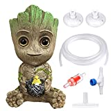 SLOCME Aquarium Groot Air Bubbler Stone Decorations - with 7 feet 3/16' Standard tubing and Control Valves Accessories