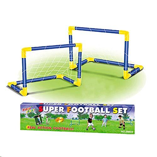 Tachan- Doble Portería Fútbol con Balón e Hinchador, Color Rojo y Negro (CPA 72326004)