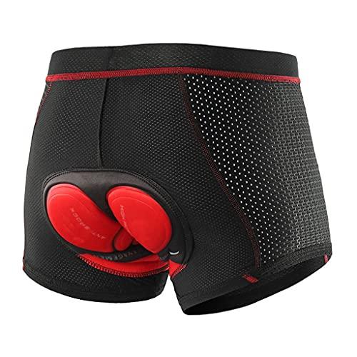 ZAYZ Ropa Interior de Ciclismo para Hombre Shorts de Ciclismo Acolchados Bicicleta de Montaña Pantalones Cortos de Forro (Color : Red, Size : L)