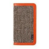 【日本正規代理店品】 melkco 2014年発売 iPhone4.7インチ用 Heritage Series プレミアムレザー(本革)使用 横開きブックカバータイプ カード収納ポケット付×3 Oliver Orange MKHEV2BCIP6F01OEWX