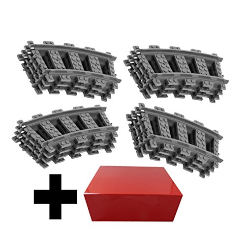 16 x Lego City Binari Ferroviari Curvi (Fornito con una confezione regalo)