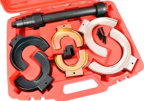 Veerspanner set universele tuning veerpoot spannen verlaging compressor set veerpootsystemen gereedschap kit met rode koffer