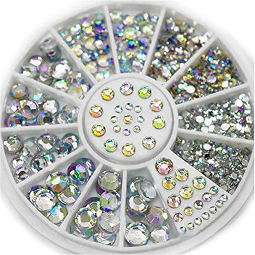 Nagelsteine Crystal AB Farben Mischgröße Acryl Design Nägel Kunstdekoration