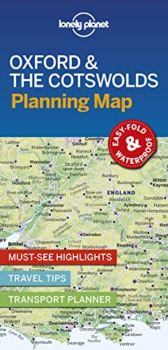Lonely Planet Oxford & the Cotswolds Planning Map (Planning Maps)