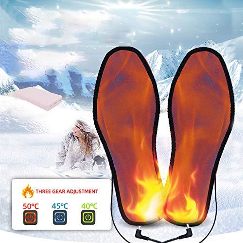 Semelles Chauffantes Rechargeable, 8-12 Heures de Chauffage Continu, Adaptateur et Chargement USB, Warmth-Keeping Pads pour Sports de Plein air, Trois Contrôles De Température, Taille 34-46,41