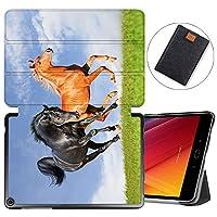 MAITTAO Verizon ASUS ZenPad Z10 ZT500KL Case/Zenpad 3S10 Z500KL, Slim Magentic Smart-Shell Stand Cover with Wake/Sleep for ASUS ZenPad Z10 9.7-Inch Tablet Sleeve Bag 2 in 1, Flowers & Leafs 5