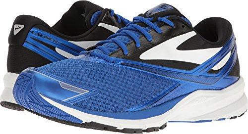 Brooks Men's Launch 4 Electric Blue/Black White Ankle-High Mesh Running - 9.5M