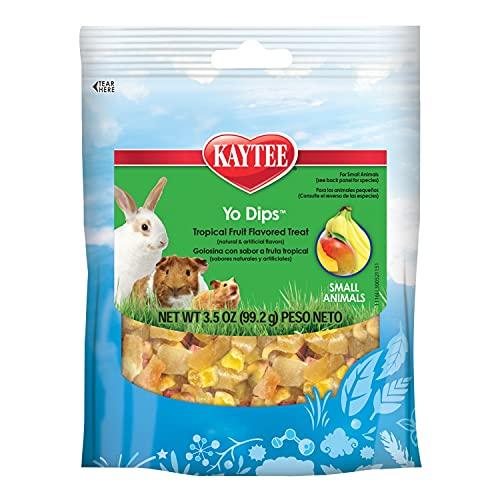 Kaytee Fiesta Yogurt Dipped Treats Tropical Fruit And Yogurt Mix For Small Animals, 3.5-Oz Bag