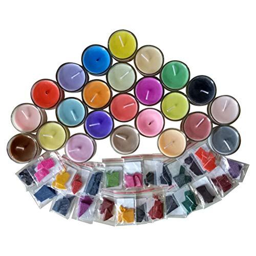 Wachsfarben F/ür Kerzen Candle Making Supplies Kit 24//10 Pcs Candle Making Dye Farbe Kerzenwachsfarben F/ür Kerzen Farbstoff Seife Sojawachs Kerzenwachs Farbe