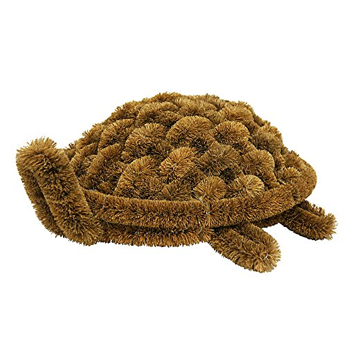 Rubber-Cal 'Turtle Coir Boot Scraper Doormat, 6 by 12 by 15-Inch