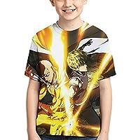 ワンパンマン (8) Tシャツ ファッション 子供のtシャツ ゆったり 男の子 女の子 半袖 Tシャツ Boy T-Shirt 半袖シャツ 人気 柔らかい肌ざわり 3d アニメ プリント ティーシャツ 運動 Tシャツ 男女兼用 夏服