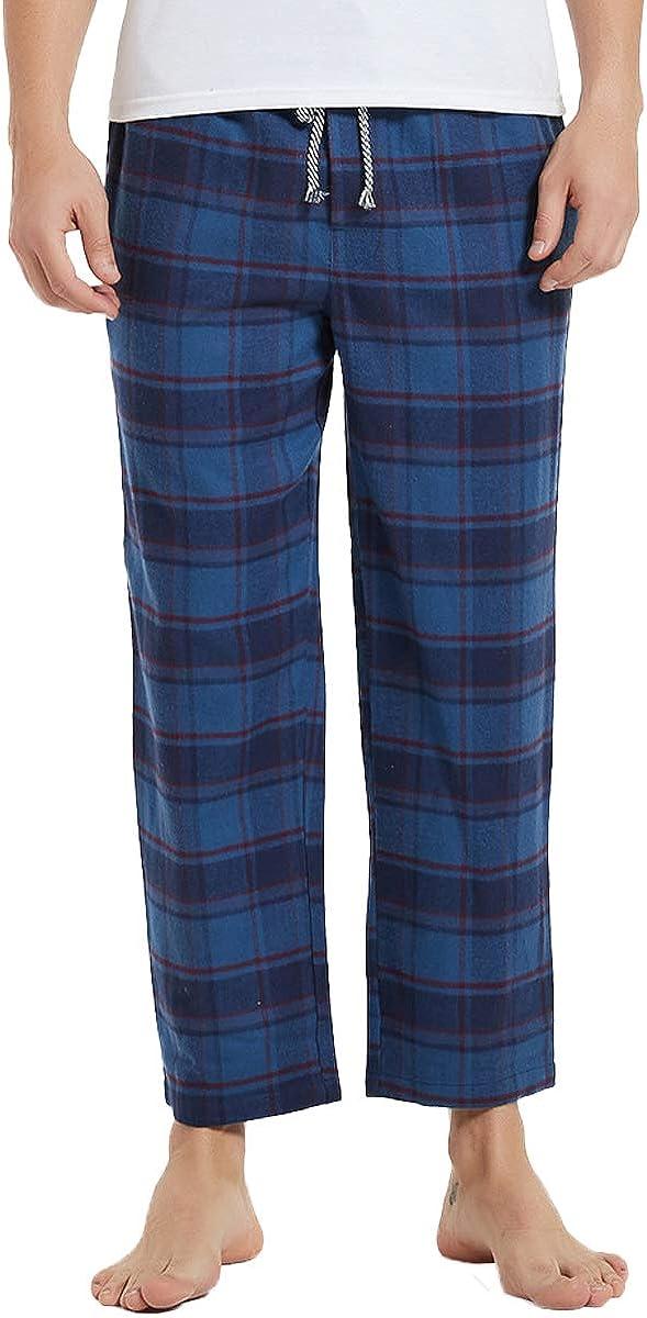 Nanxson Men's Flannel Pajama Pant Plaid Sleep Lounge Pant with Pockets