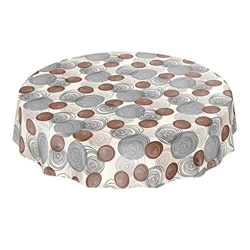 ANRO tafelzeil tafelkleed tafelkleed tafelkleed wastafelkleed modern cirkels crème beige