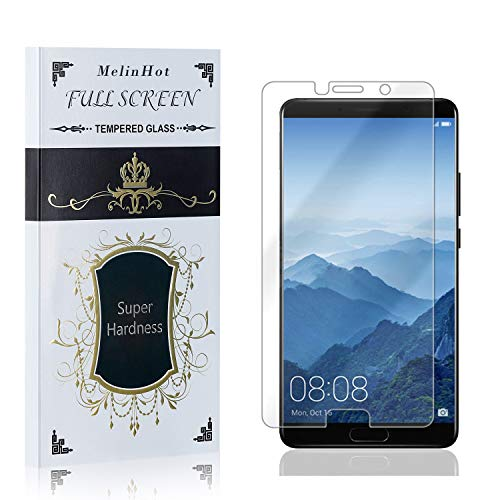 Displayschutzfolie für Huawei Mate 10, MelinHot 3D Touch Schutzfolie aus Gehärtetem Glas für Huawei Mate 10, Hoch Transparenz, Keine Luftblasen, 2 Stück