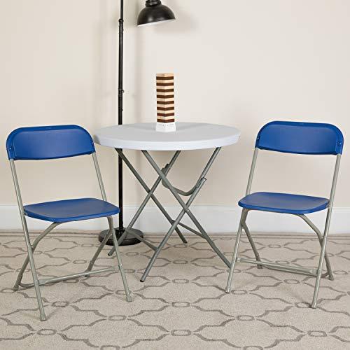Flash Furniture 10 Pk. HERCULES Series 650 lb. Capacity Premium Blue Plastic Folding Chair
