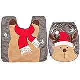 thematys Copriwater coprisedile - Tappetini da Bagno Perfetti per Natale in Vari Design - la Perfetta Decorazione Natalizia (Renna)