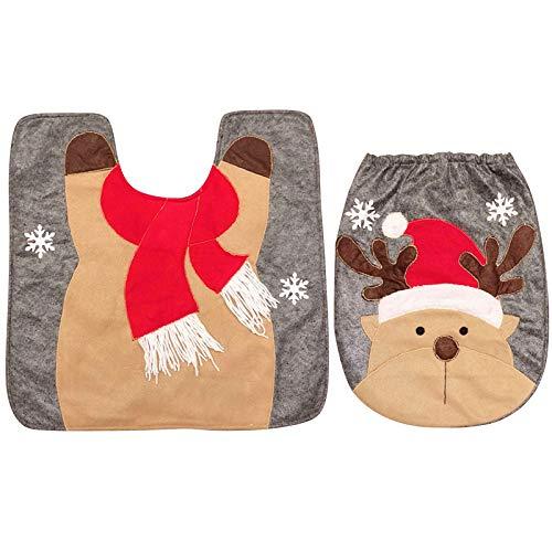 thematys Cubierta del Asiento del Inodoro - alfombras de baño Navidad en Varios diseños - la decoración...