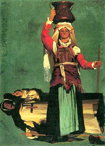 Het Museum Outlet - Italiaans kostuum studies door Bierstadt - Canvas (24 x 32 Inch)