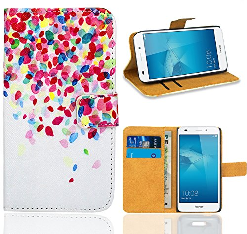 Huawei Honor 5C Handy Tasche, FoneExpert Wallet Hülle Flip Cover Hüllen Etui Ledertasche Lederhülle Premium Schutzhülle für Huawei Honor 5C