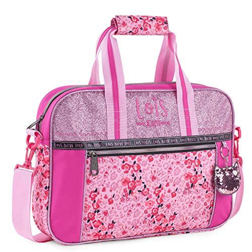 Lois - Cartera extraescolar niña maletín Capacidad para blocs libretas Libros y...