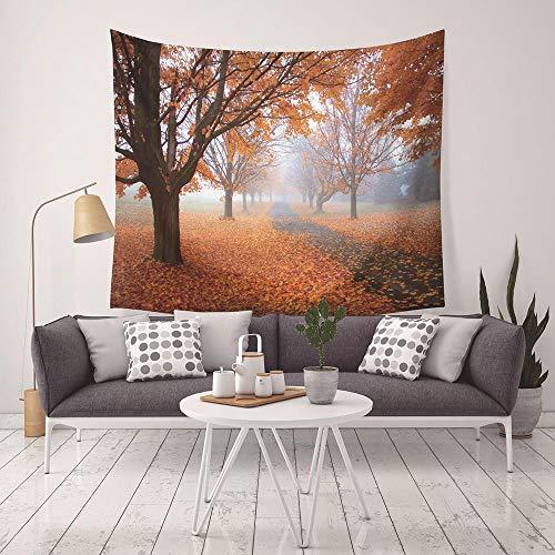 Tapiz Pared,Tapices Decorativos,Colcha de pícnic,Patrón de Hojas caídas de otoño con Art Nature Decoraciones para el hogar para Sala de Estar Dormitorio Dormitorio Decoración-D_200x150cm