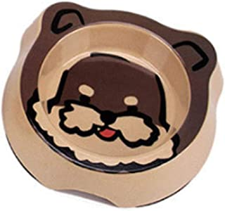 "Tiancay Pet Face Simple BOL BOL Anti-dérapant De Forme Créative Chat Chanceux Akita Schnauzer Chow Chow 14.5"" 14.5 * 3.5cm"