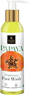 Good Vibes Papaya Brightening Face Wash 120 ml - Radiant Glowing Moisturizing Brightening Anti Ageing Pore Cleansing Formu...