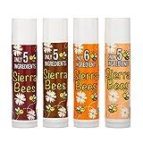 Sierra Bees オーガニックリップクリームバリューパック パック4種類 各4 25g