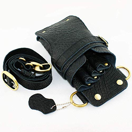YLLN Hair Cisors Set,Hairstylist Holster Pouch Barber Scissors Bag Leather Hairdressing Cisors Pocket Styling Tools