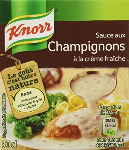 Knorr Sauce aux Champignons à la Crème Fraîche 4 Parties 30 cl - Lot de 4