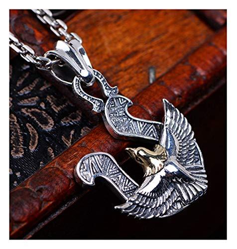 Damen und Herren S925 Sterling Silber Fliegender Adler Anhänger Halskette Kleidung Party High-End Geschenk Box Geburtstag Geschenk Halskette Schmuck Silber