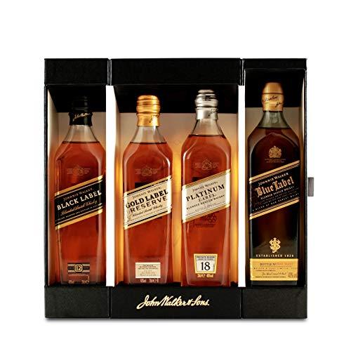 Johnnie Walker Collection Set Blended Scotch Whisky 40% 4-0,2l Flasche