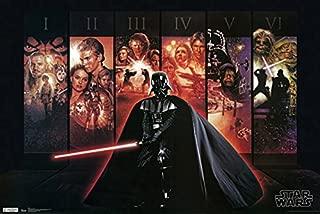 777 Tri-Seven Entertainment Star Wars Poster Darth Vader Episodes 1-6 Large Print (24x36)