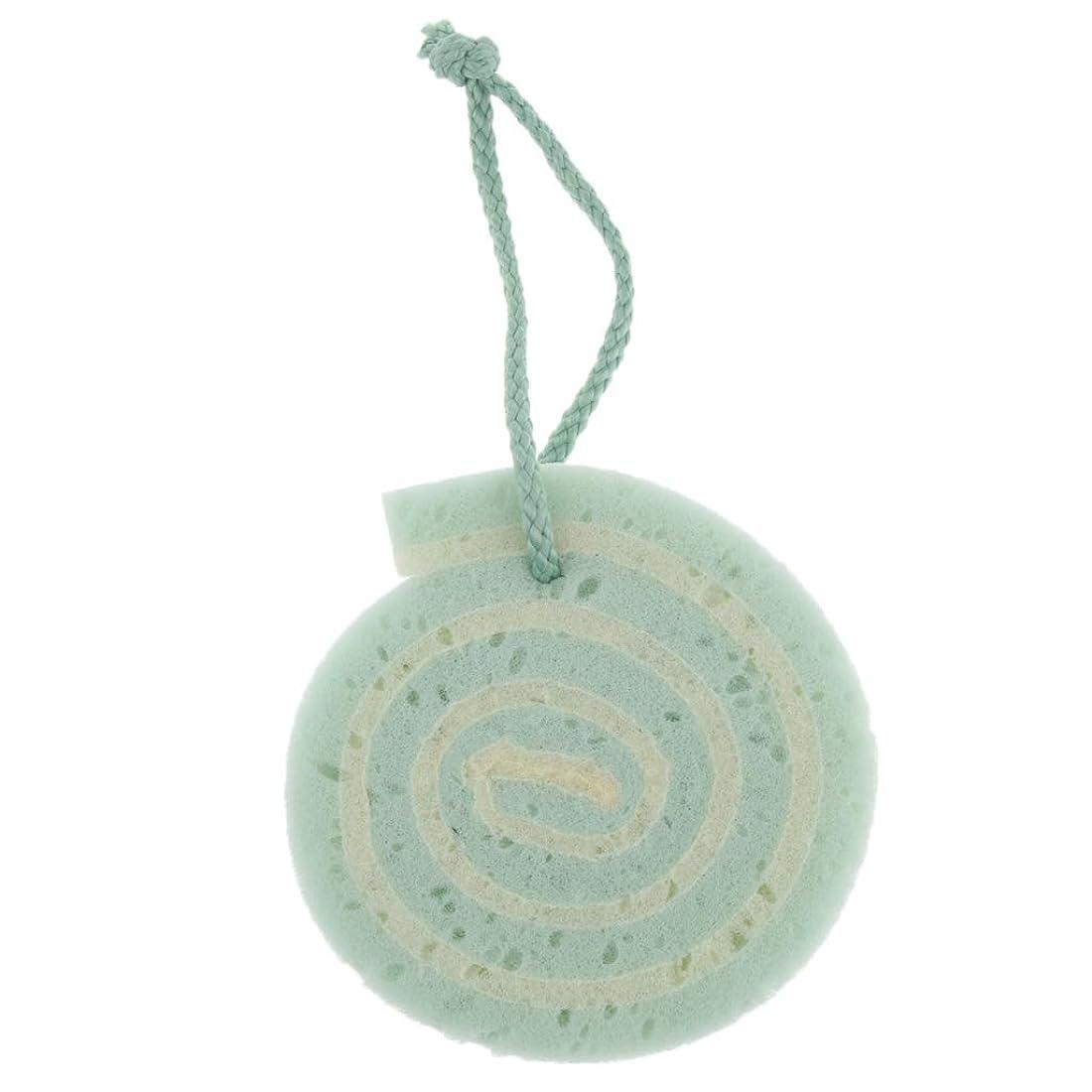 ドメイン熱心な鳴らすボディスポンジ バスグッズ 子供シャワー スクラブスポンジ 3色選べ - 緑