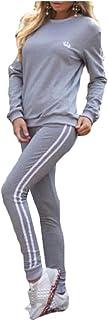 omniscient Women's Two Piece Outfits Pullover Sweatpants Sports Tracksuit Jumpsuit Set